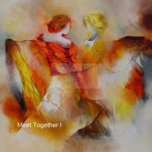 """MeetTogether I"" 70 x 70 cm : € 50 30 x 30 cm : € 15"