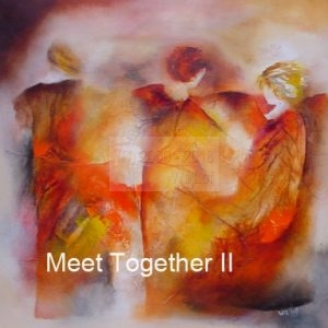"""MeetTogether II""<br /> 70 x 70 cm : € 50<br /> 30 x 30 cm : € 15"